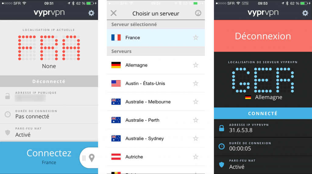 Application iphone pour le fournisseur de vpn : Vyprvpn