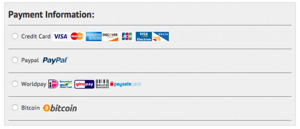 Moyen de paiement, fournisseur de vpn IpVanish