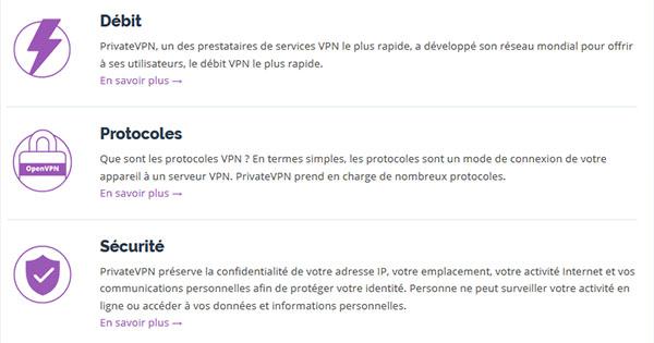 Fonctionnalités-PrivateVPN