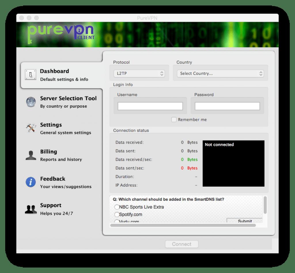 Logiciel vpn purevpn pour MacOSX