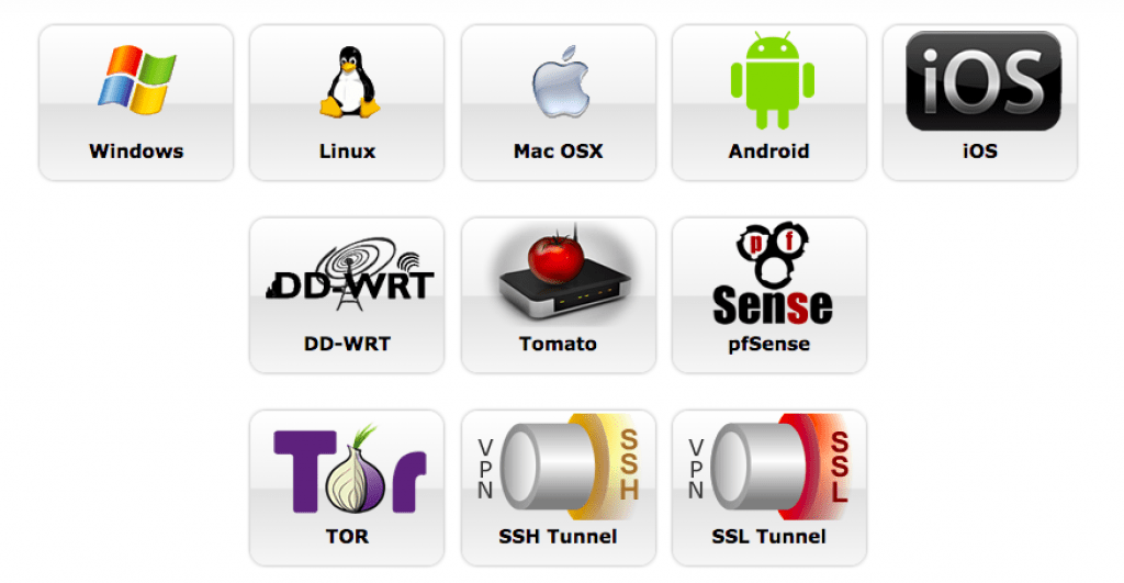 Plateforme compatible pour le logiciel : AirVPN