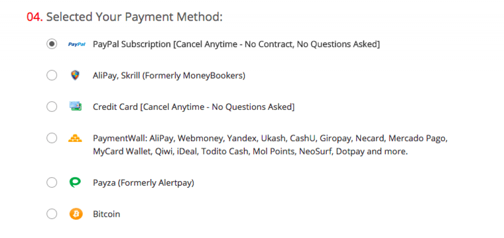 Moyen de paiement purevpn, Paypal, carte bancaire, bitcoins ...