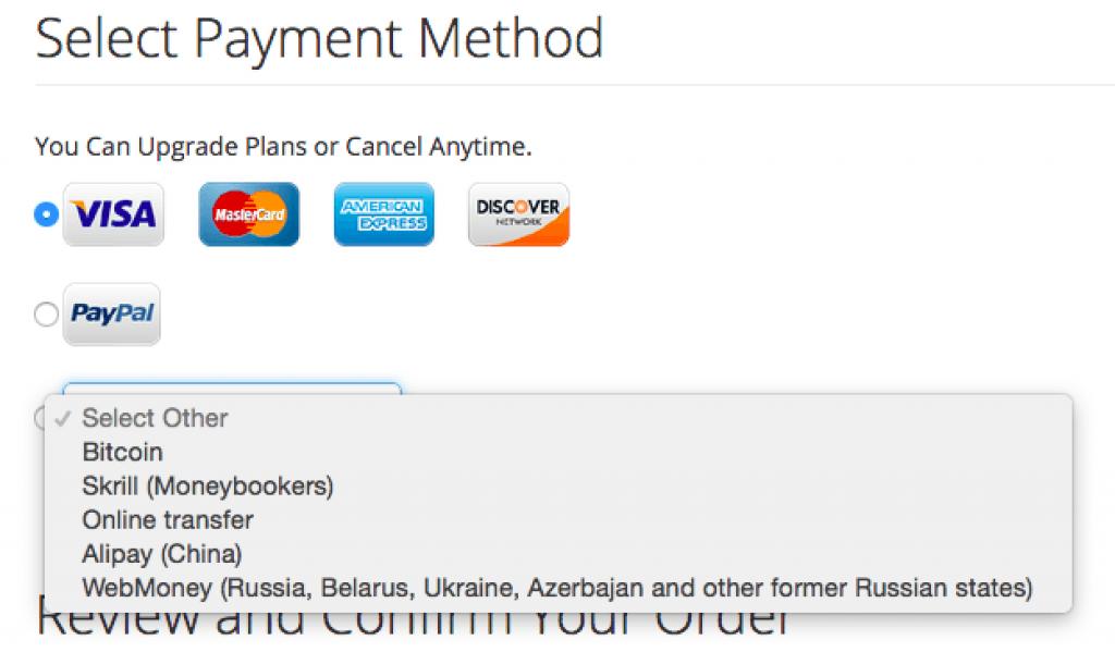 Mode de paiement fournisseur de vpn : SaferVPn