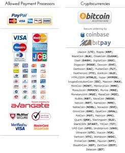 Moyen de paiements acceptés pour service de vpn : AirVPN