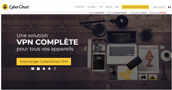 Cyberghost-VPN Chine