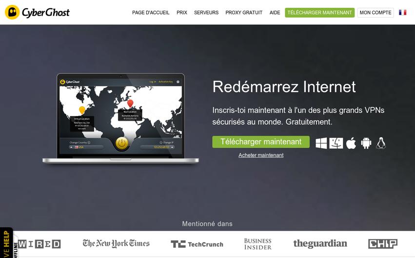 Site Internet Cyberghost