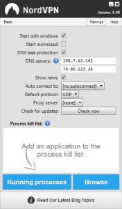 Fonctionnalités avancés de l'Application Windows de NordVPN