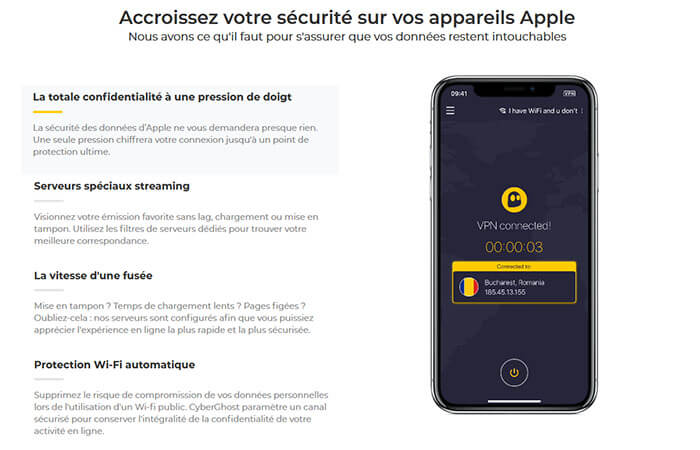 CyberGhost VPN iPhone