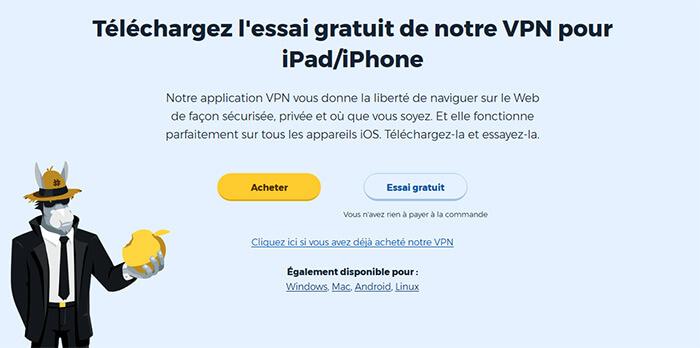 HideMyAss iPhone