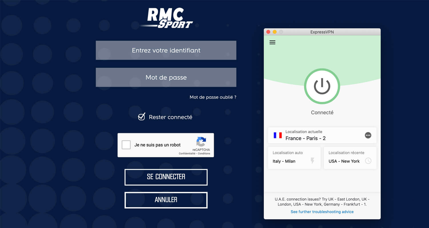 RMC Sport disponible VPN