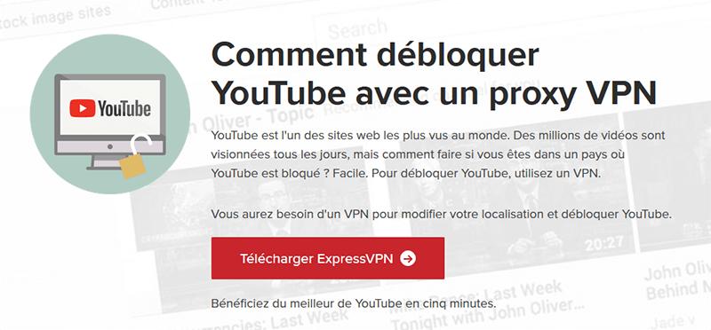 YouTube avec ExpressVPN