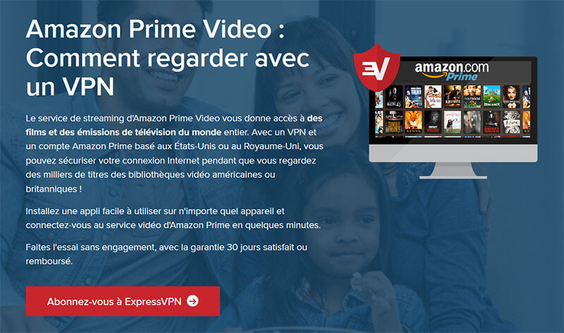 ExpressVPN et Amazon Prime Video