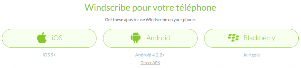 mobile app windscribe