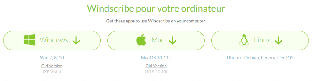 ordinateur compatible windscribe