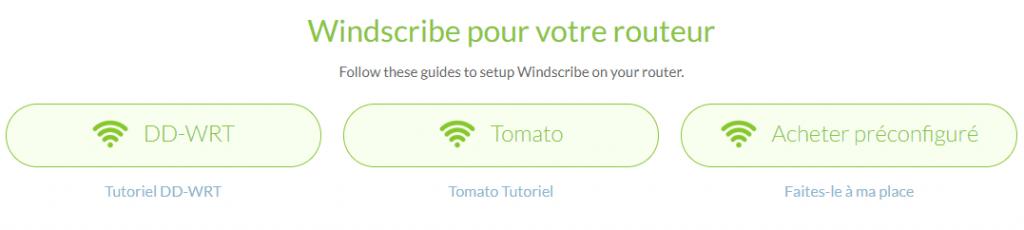 routeur compatible windscribe