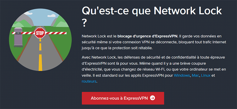 Kill Switch d'ExpressVPN