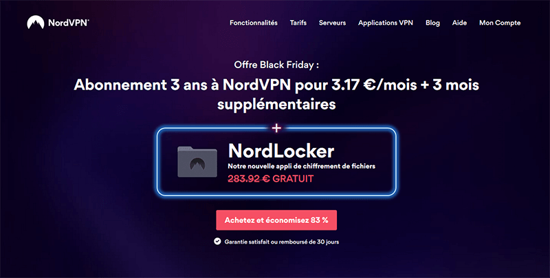 Promo Black Friday de NordVPN