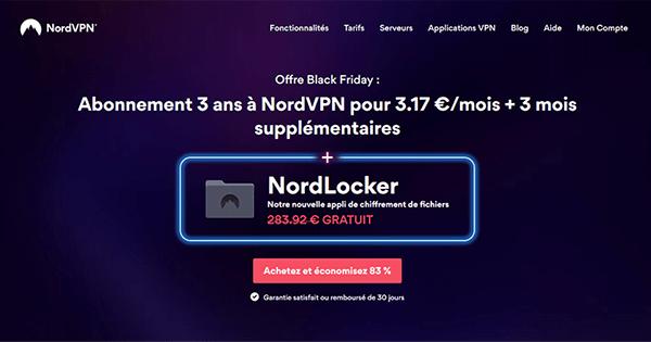 Promotion Black Friday NordVPN