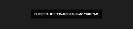 Message d'erreur Canal+ à l'étranger