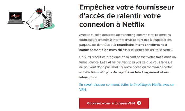 Utilisation d'ExpressVPN sur Netflix