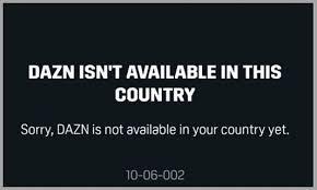 Message d'erreur DAZN