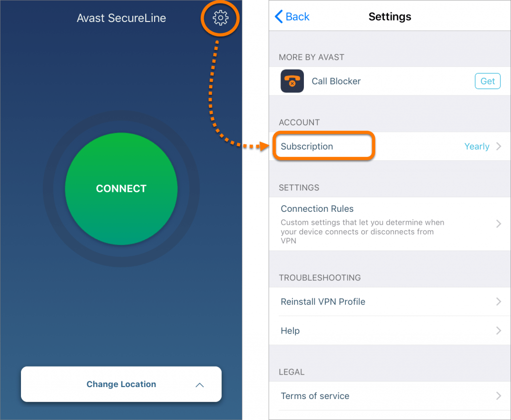 mobile app avast secureline