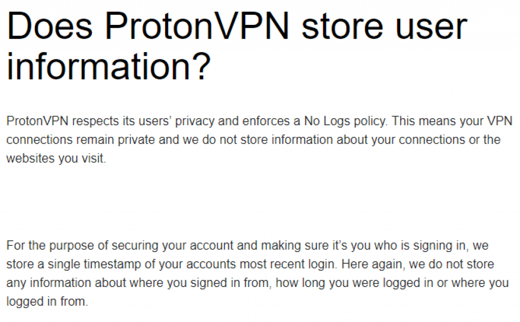 no-log protonvpn