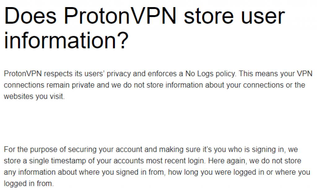 no-log protonvpn