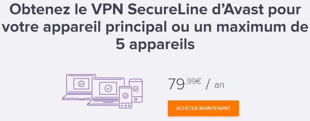 tarif offre unique avast secureline