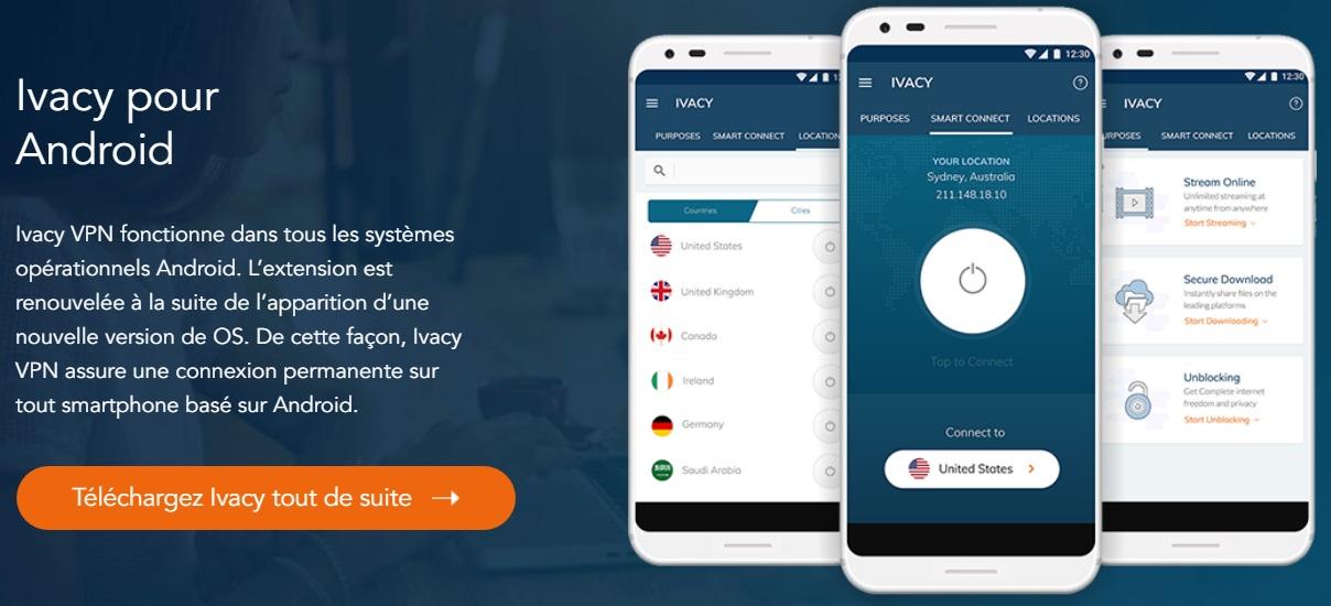 application mobile ivacy vpn