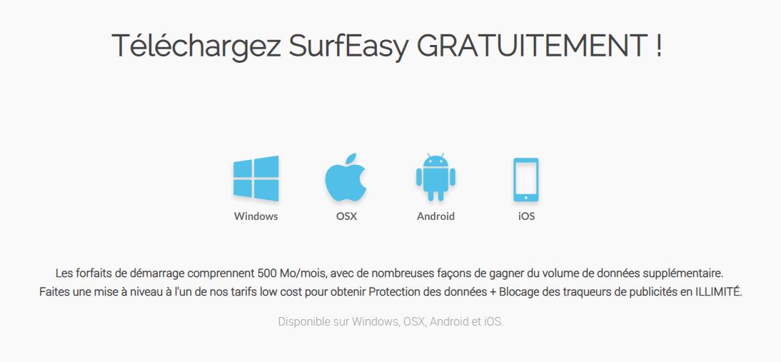 logiciel SurfEasy