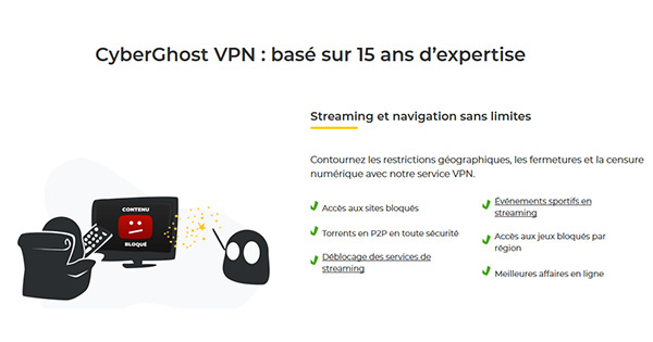 Forces et fabilesses CyberGhost