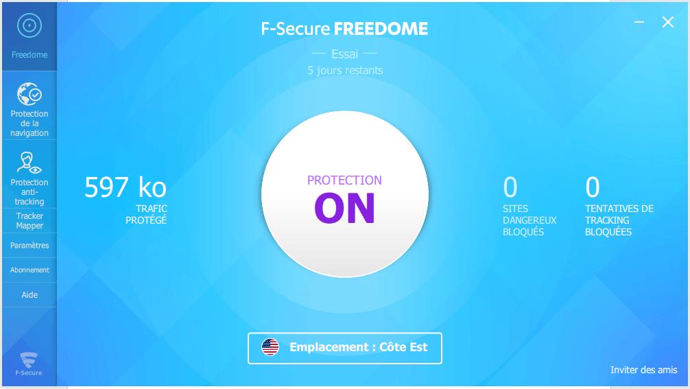 logiciel f-secure freedome