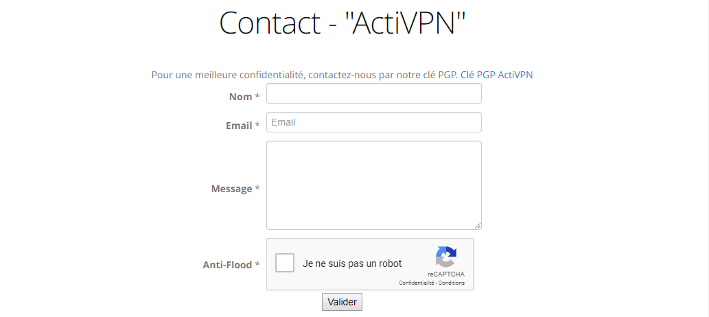 support client activpn
