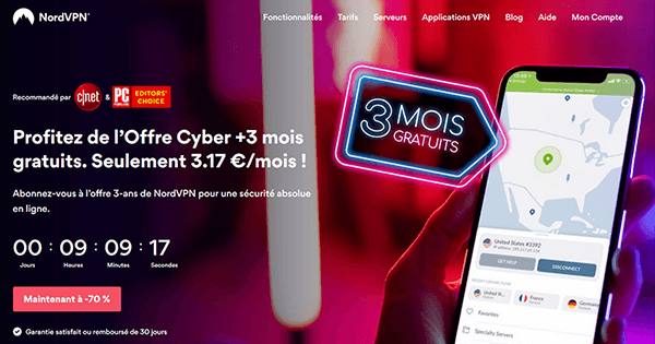 Promotion Cyber Month NordVPN