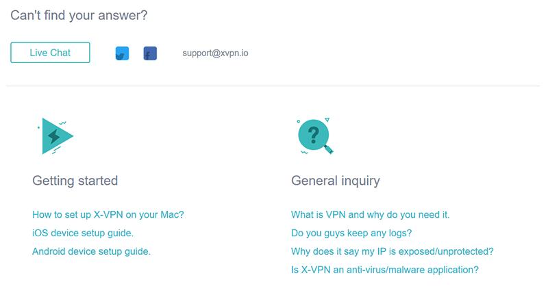 Support X VPN