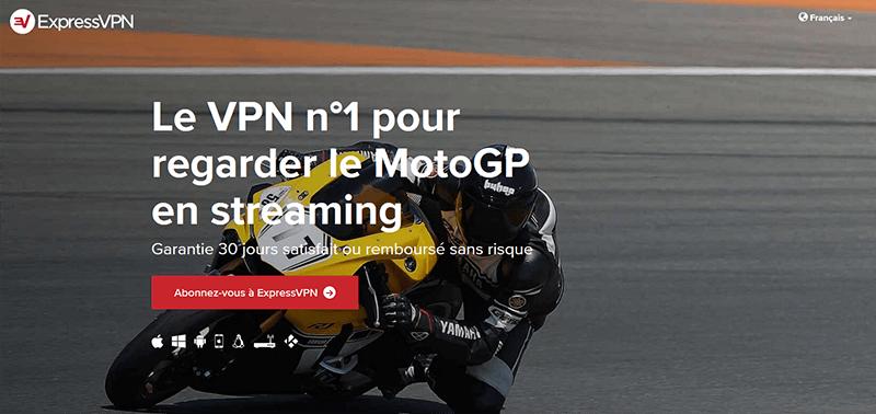 Regarder MotoGP avec ExpressVPN