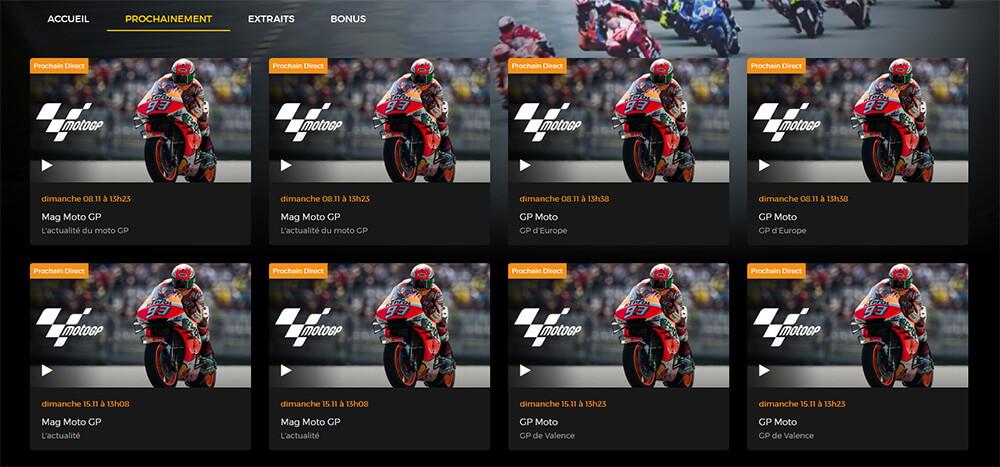 Programme RTBF GP Europe MotoGP