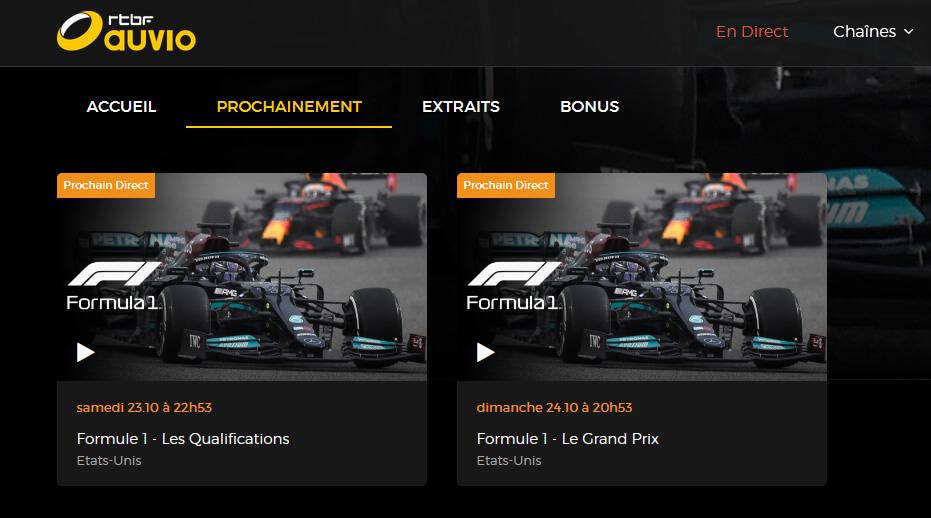 Programme TV F1 GP Etats-Unis