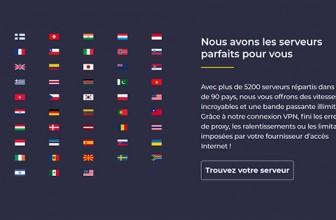 Quel est le nombre de pays couverts par CyberGhost ?